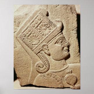 若い王子の頭部を描写するレリーフ、浮き彫り ポスター