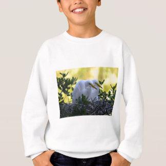 若い白鷺のひよこ スウェットシャツ