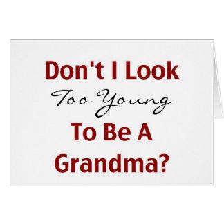 若い祖母 グリーティングカード