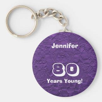 若い紫色の人形80年のKeychain (キーホルダー) キーホルダー