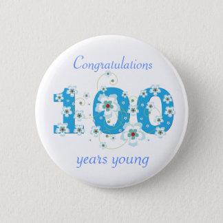 若い誕生日のお祝いボタン100年の 5.7CM 丸型バッジ