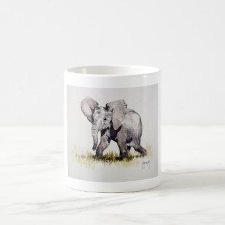 若い象のマグ コーヒーマグカップ