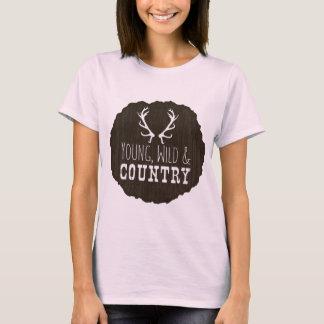 若い野生および国 Tシャツ