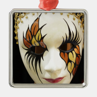 若い陶磁器のカーニバルのマスク メタルオーナメント
