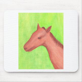 若い馬、水彩画のマウスパッドの子馬、 マウスパッド