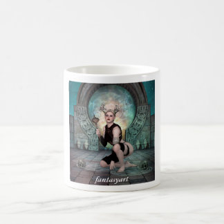 若い鬼の女性を置くこと コーヒーマグカップ
