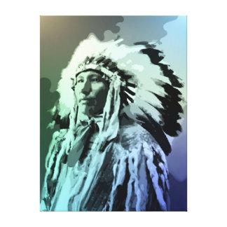 若いBruleのインディアンの人 キャンバスプリント