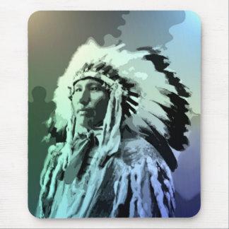 若いBruleのインディアンの人 マウスパッド