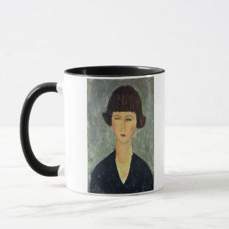 若いBrunette 1917年(キャンバスの油) マグカップ