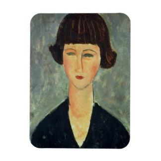 若いBrunette 1917年(キャンバスの油) マグネット