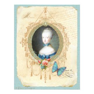 若いMarieアントワネットn女王の蝶プリント チラシ