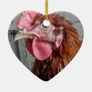 若いWelsummerのオンドリの鶏 セラミックオーナメント