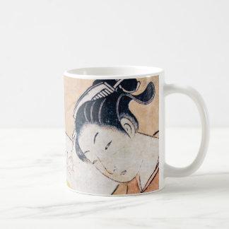 若く日本のな女の子のマグ コーヒーマグカップ