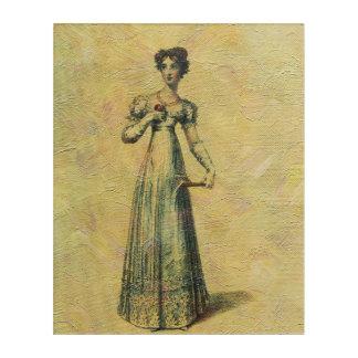若く美しいヴィンテージの女性の絵画 アクリルウォールアート