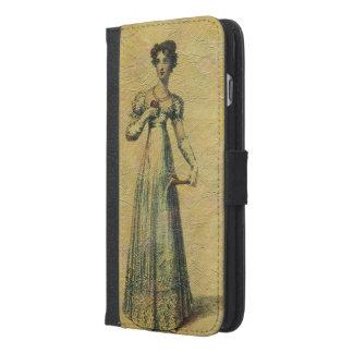 若く美しいヴィンテージの女性の絵画 iPhone 6/6S PLUS ウォレットケース