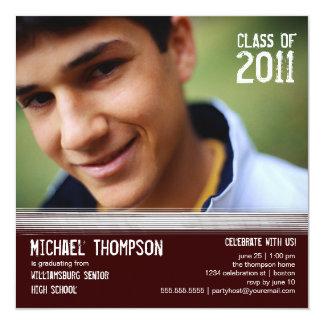 若者の卒業パーティーの写真の発表 13.3 スクエアインビテーションカード