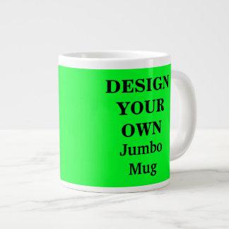 若草色あなた自身のジャンボマグを-設計して下さい ジャンボコーヒーマグカップ