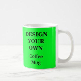 若草色あなた自身のマグを-設計して下さい コーヒーマグカップ