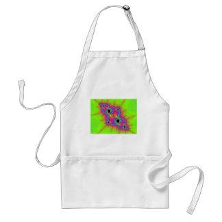 若草色およびピンク色のフラクタル スタンダードエプロン