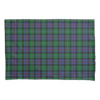 若草色および青いスコットランドの格子縞パターン 枕カバー