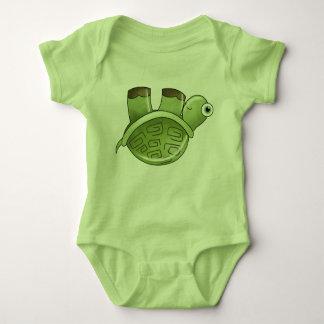 若草色のカメの赤ん坊の動物の子供の芸術 ベビーボディスーツ