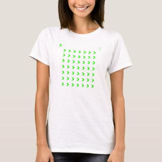若草色のシェブロン Tシャツ