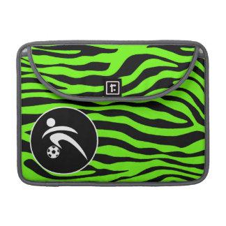 若草色のシマウマは縞で飾ります; サッカー MacBook PROスリーブ