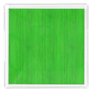 若草色のタケ木製の穀物の一見 アクリルトレー