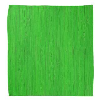 若草色のタケ木製の穀物の一見 バンダナ