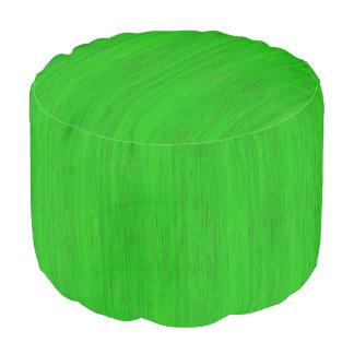 若草色のタケ木製の穀物の一見 プーフ