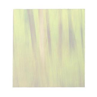 若草色の夏の抽象芸術 ノートパッド