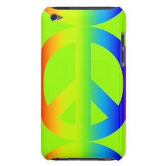 若草色の多様性の虹のピースサイン Case-Mate iPod TOUCH ケース