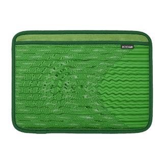 若草色の抽象的なパターン MacBook スリーブ