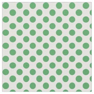 若草色の水玉模様パターン生地 ファブリック