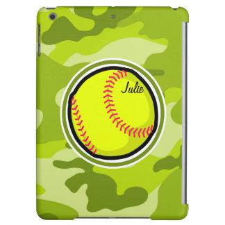 若草色の迷彩柄、カムフラージュのソフトボール