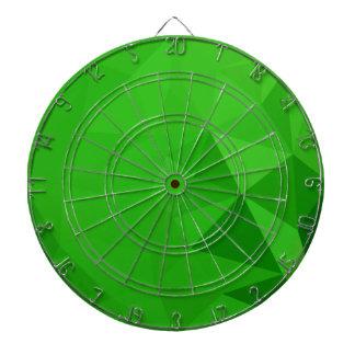 苦いレモン緑の抽象芸術の低い多角形の背景 ダーツボード