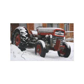苦く古いトラクター キャンバスプリント