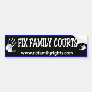 苦境の家庭裁判所のバンパーステッカー バンパーステッカー