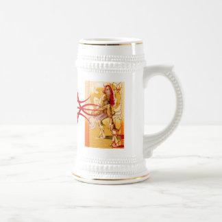 苦痛の星の罪の赤い種族のロゴのマグ ビールジョッキ