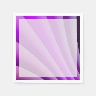 苦痛の芸術の紫色の波 スタンダードカクテルナプキン