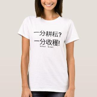 苦痛無しか。 利益無しか。 Tシャツ