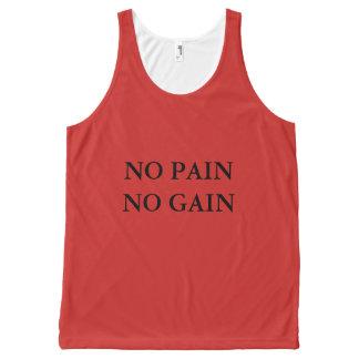 苦痛無し利益トレーニングのTシャツ無し オールオーバープリントタンクトップ