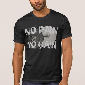 苦痛無し利益バーベルの重量挙げのTシャツ無し Tシャツ