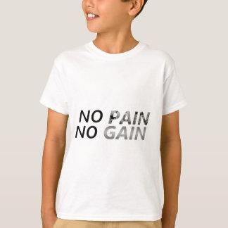 苦痛無し利益無し Tシャツ