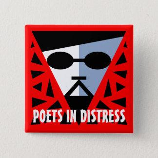 苦脳のお父さんのカッコいいボタンの詩人 5.1CM 正方形バッジ