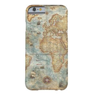 苦脳のヴィンテージのアンティークによって描かれる世界地図 BARELY THERE iPhone 6 ケース