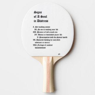 苦脳の精神のシンボルや象徴 卓球ラケット