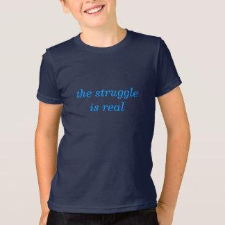 苦闘は実質です Tシャツ