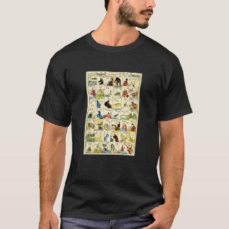 英単語表、英国の単語の亀吉のテーブル、Ukiyo-e Tシャツ