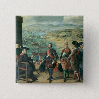 英国に対するカディス、1634年の防衛 5.1CM 正方形バッジ